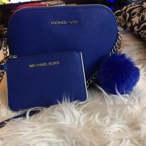 New Michael Kors Cindy Dome Electric Blue